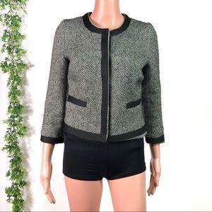 Zara Black Tweed Blazer Size Small